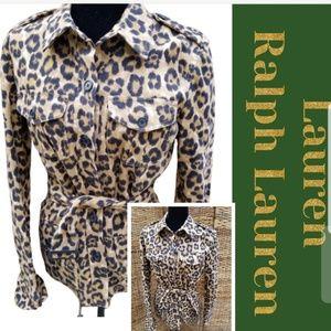 NWT Lauren Ralph Lauren cheetah jacket M